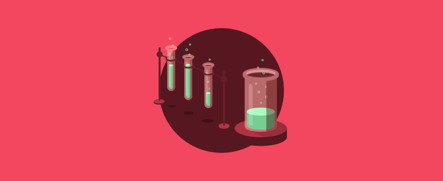 Cartoon of chemistry equipment