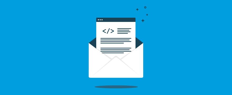 """Brief auf blauem Hintergrund """"Headerbild für Blogbeitrag"""""""