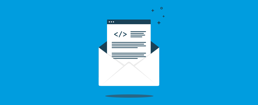 Brief auf blauem Hintergrund, Headerbild für Blogbeitrag