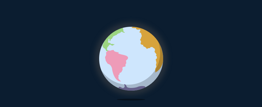 Weltkugel bunt - Header-Bild für Blogbeitrag