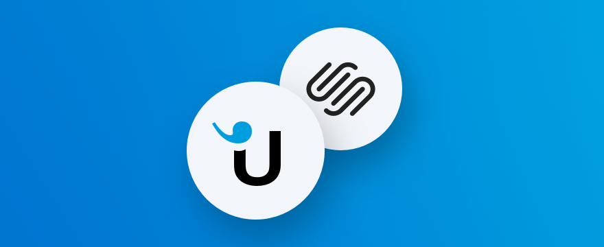 Userlike Logo und Squarespace Logo
