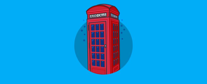 An English phone booth.