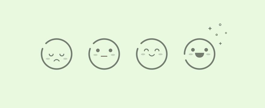 Emoji in varying moods.