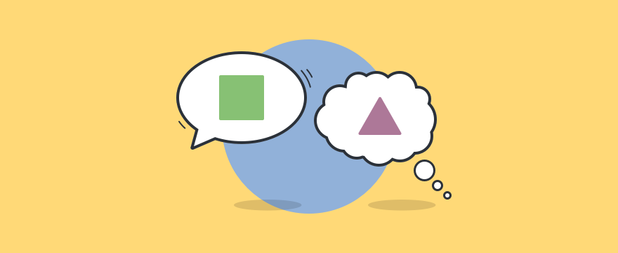 One chat cloud, one thinking cloud, misunderstanding one another.
