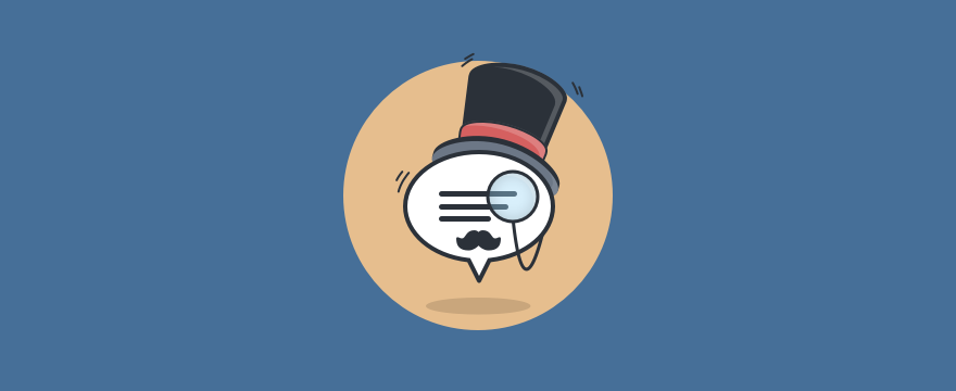 A noble speech bubble with a top hat and mustache - chat etiquette blog post header image.