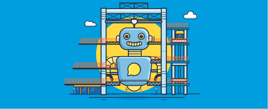 huge chatbot in development - header image for 5 User-Friendly Chatbot API Options for AI Customer Service