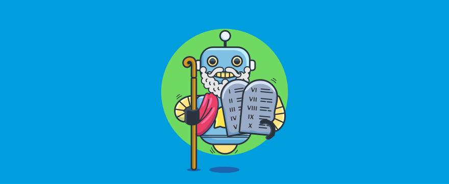 Chatbot Moses - header image for The 10 Chatbot Commandments