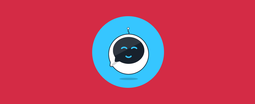 smiling chatbot - header image for 11 Step Process for a Great Chatbot Design