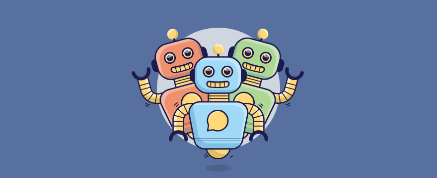three chatbots – header image for blog post on chatbot support