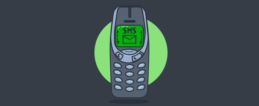Klassisches Nokia mit SMS auf dem Bildschirm – SMS Kundenkommunikation
