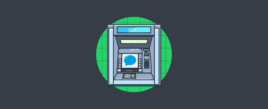 Geldautomat – Titelbild für Blogbeitrag zu Conversational Banking