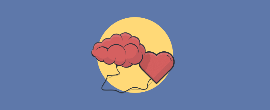 A brain and a heart illustrating customer empathy and compassion.