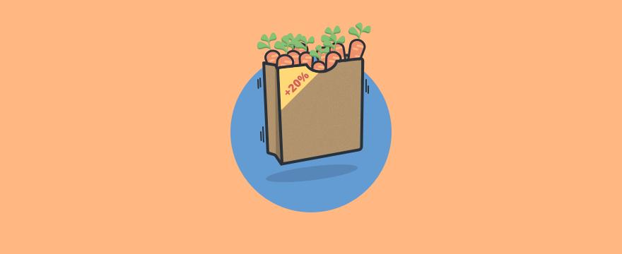 eine Tüte Karotten mit mehr Inhalt – Titelbild für Blogartikel zu psychologischen Kaufanreizen