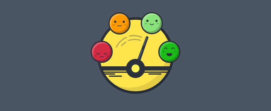 an emoji scale – header image for customer sentiment post