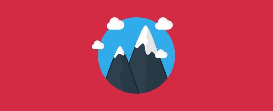 Mountain top, symbolizing motivation.