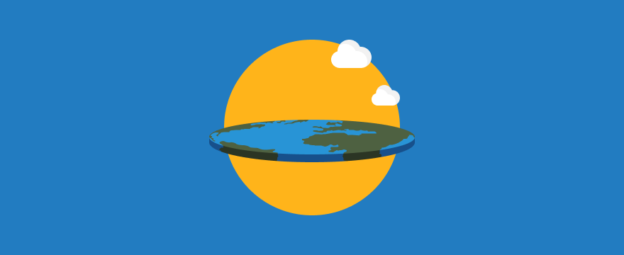 a flat earth – header image for customer service myths post