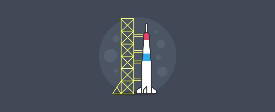 eine Rakete vor dem Launch – Titelbild für Blogbeitrag zu Qualitätssicherung im Kundenservice