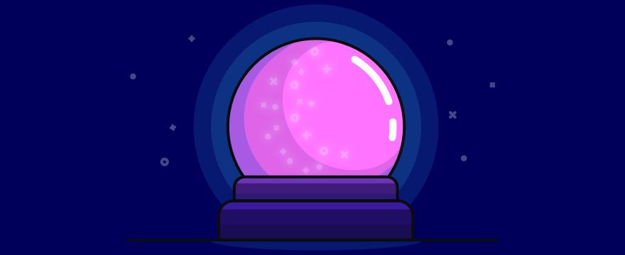 eine Kristallkugel – Headerbild für Blogbeitrag zu Kundenservice Trends