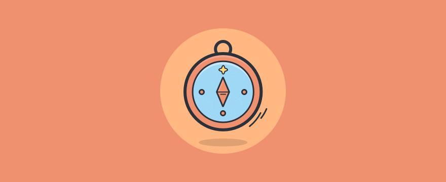a compass, customer service values blog post header image