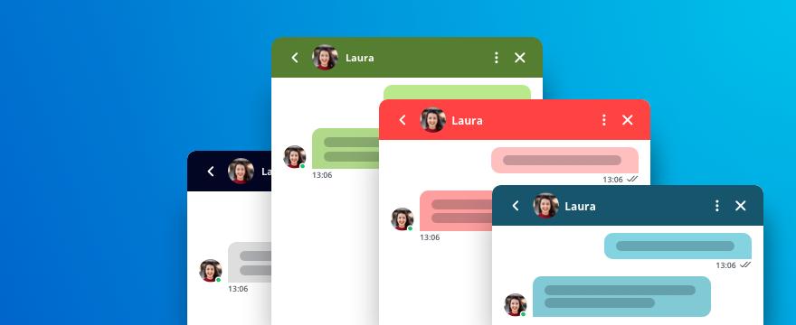 Userlike Chat Widgets in various colors