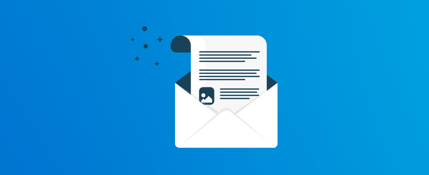 A letter – header image for post on email ticket support live chat.