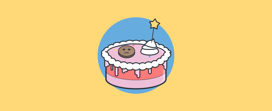 Visualization of a farewell cake, header image of Farewell Message blog post.