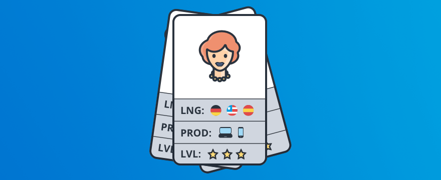 a card showing a chat agent's skills – header image for post on chat routing