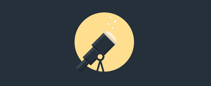 Un binocolo ed una luna