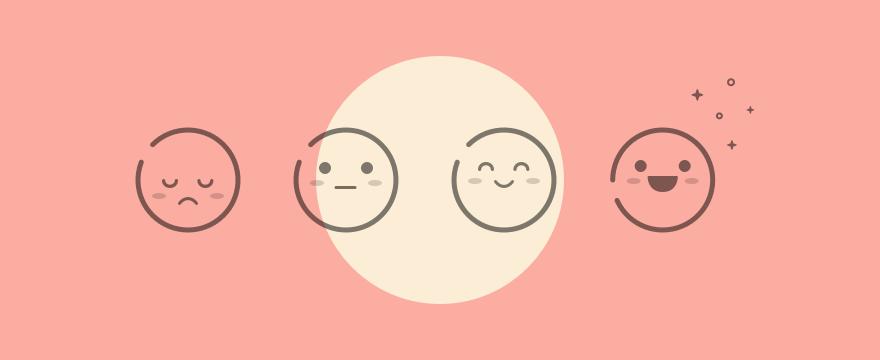 Cartoon of emoji scale