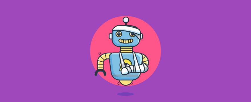 Injured chatbot - header image for 8 Strategic Use Cases for Insurance Chatbots