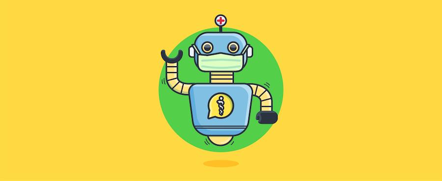 Doctor-Chatbot mit Maske – Coronavirus Chatbot