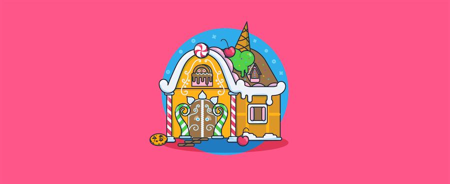 ein Knusperhaus – Headerbild für Blogbeitrag zu Leadgenerierung