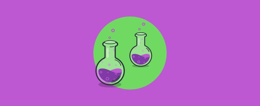 Two reaction tubes.