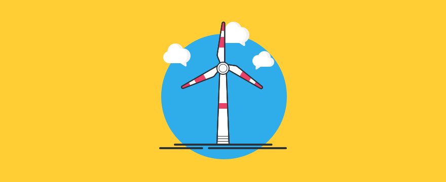 ein Windrad – Headerbild für Live-Chat in der Energiewirtschaft