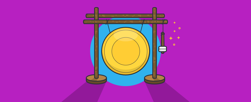 A gong - header image for blog post on notifications