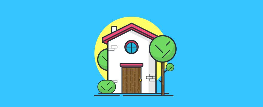A cute house.