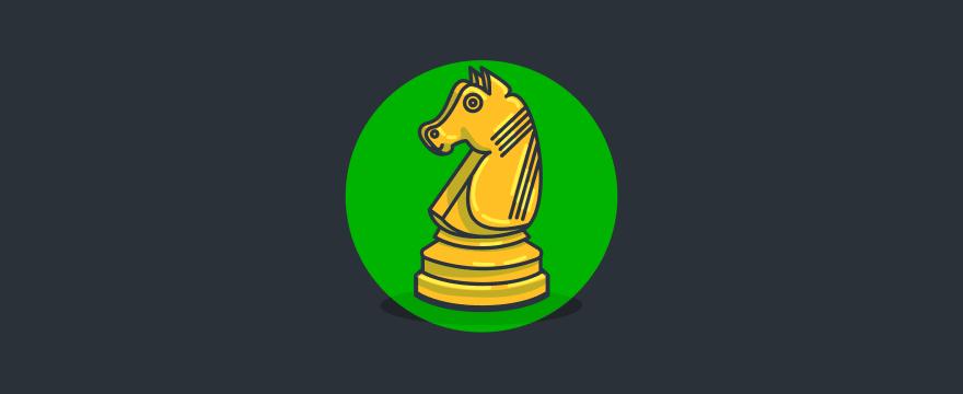 A chess horse piece.