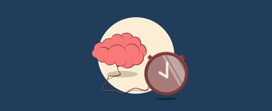 Brain and a clock, indicating proactive support.