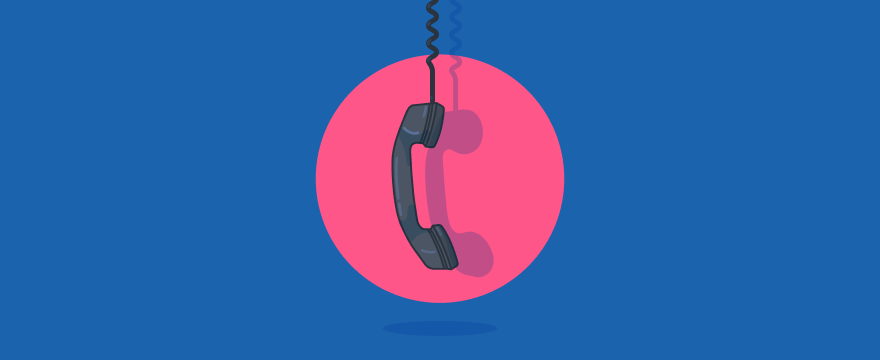a phone – header image for blog post on quitting phone support