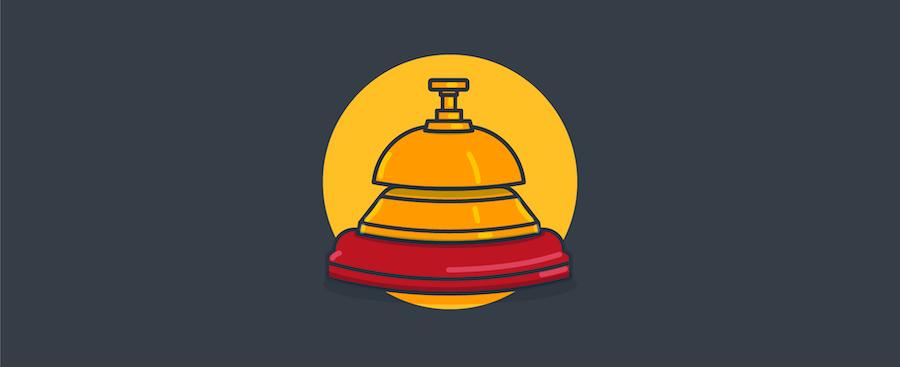 eine Klingel – Titelbild für Blogbeitrag zu Kundenservice in Echtzeit