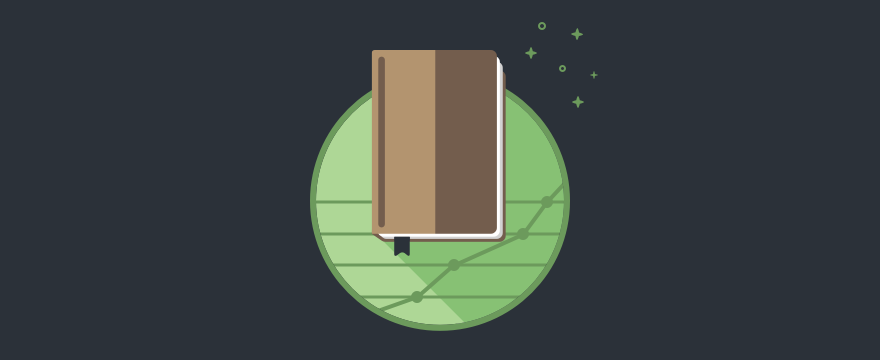 A book with a dollar sign on it. Header image for sales articles roundup post.