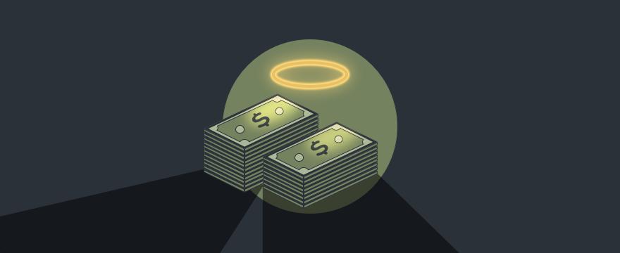 Bundles of money with a halo above them, header image sales manipulation blog post.