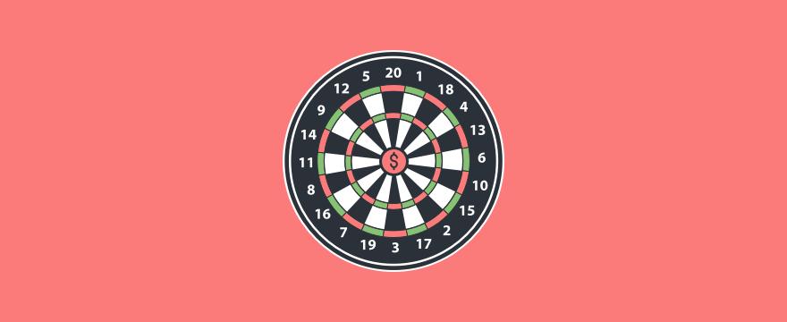 eine Dartscheibe - Headerbild für Blogbeitrag zu Vertriebsfähigkeiten