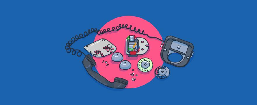 Kaputtes Telefon – Titelbild für Blogbeitrag zu Kommunikation am Telefon