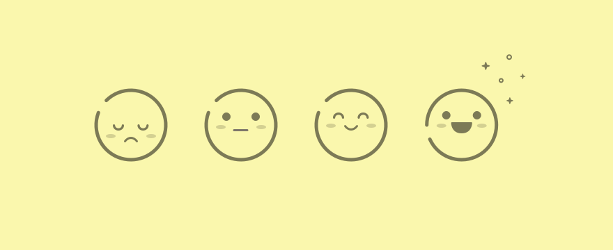 Smileys to convey the various characteristics.