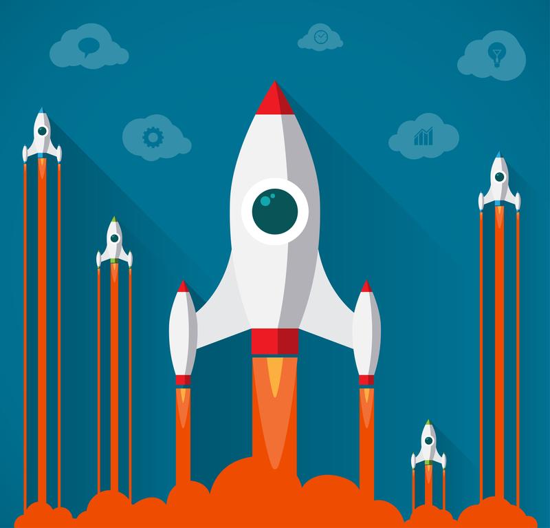 Startup rocket.