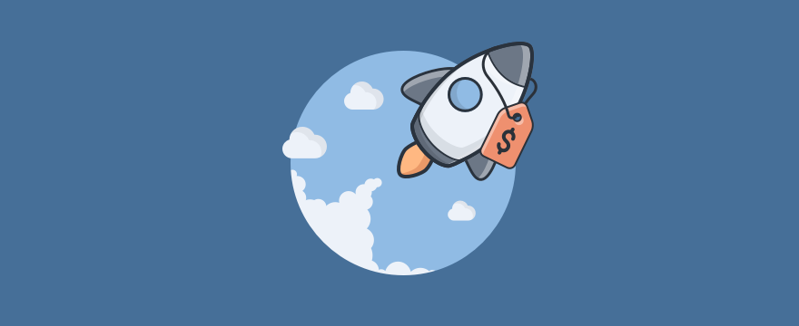 A rocket  – header image for blog post on startup deals