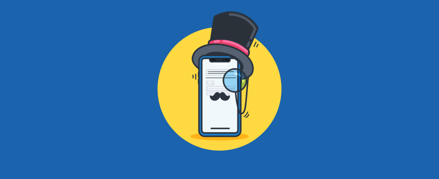 Phone with a mustache.