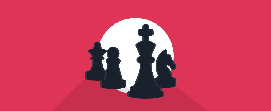 Schachfiguren – Headerbild für Blogbeitrag zu Kundentypen