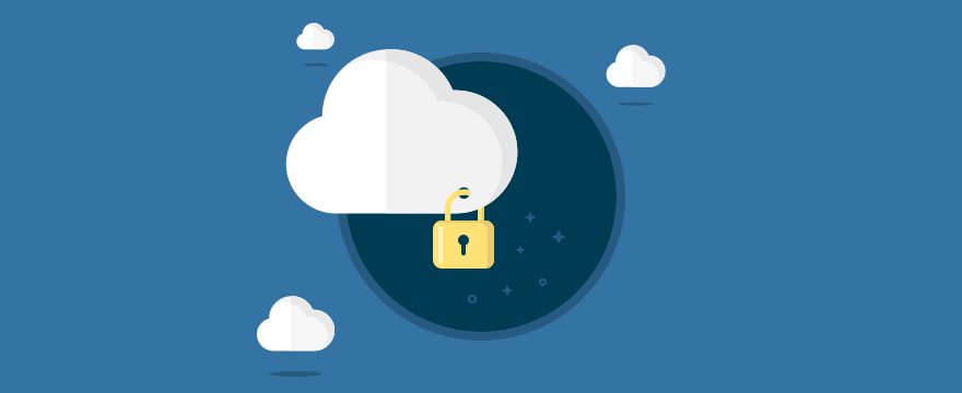 a lock in a cloud